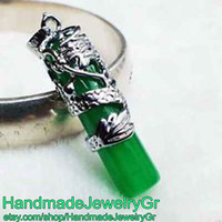 Green Jade Chinese dragon Necklace