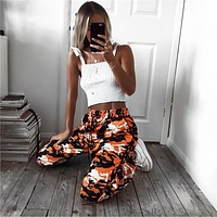 Women's new Camo tie Haren casual pants