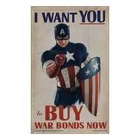 Captain America First Avenger I Want You Replica Poster - eFX Collectibles - Captain America - Artwork at Entertainment Earth