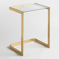 Glass and Metal Lori Laptop Table