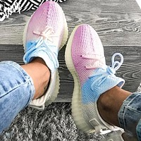 Yeezy Boost 350 V2 Adidas Trending Fresh Color Sports Sneakers Fashion running shoes White and blue powder Ice cream