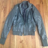 Perfect Condition Gray Vegan Leather Jacket