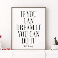Bedroom Decor,Nursery Decor,WALT DISNEY World,Walt Disney Quote,Nursery Wall Art,Kids Room Decor,Inspirational Quotes,Printable Poster