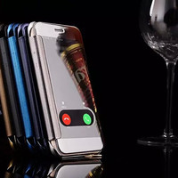 3D Smart Flip Transparent specular touch Anti-collision Luxury cover