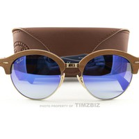 New Ray-Ban Sunglasses RB4246M Clubround Wood 1180/7Q Authentic