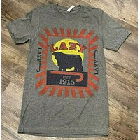 Lazy J Ranch Feed Sack Patch Gray T-Shirt