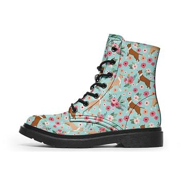 Pit Bull Flower Boots