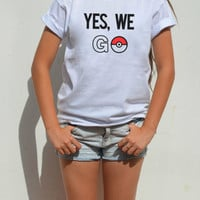 Yes We GO Pokemon Go Shirt with Obama quote yes we can adult Funny graphic shirt