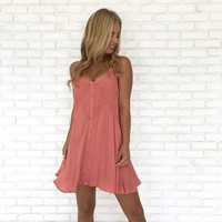 Rose All Day Dress In Coral