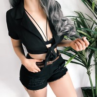 UNDER THE STARS TOP (BLACK)