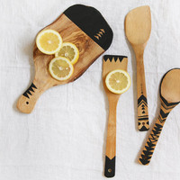 Geo Painted Wooden Kitchen Tools - Free People Blog