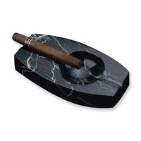 Black Solid Marble Ashtray
