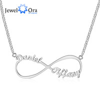Personalized Name Necklace Customize Letter Infinity Endless Love 925 Sterling Silver Necklaces & Pendants (JewelOra NE101367)