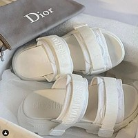 Dior's latest three dimensional embroidered slippers Shoes