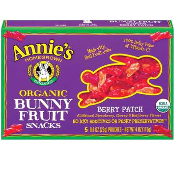 Annie`s Homegrown Bunny Berry Fruit Snack -12x4 Oz-