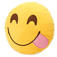 Emoji Tongue Out Pillow