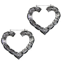 LOVESTRUCK HEART BAMBOO HOOPS