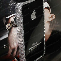 Bling iPhone cover Crystal iPhone 5 case  iPhone 4s case iPhone 4 cover Back case Simple Fashion iPhone cover Handmade iPhone5 iPhone4