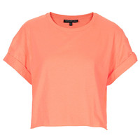 Tall Fluro Roll Back Crop Tee - Hotshop - Collections - Topshop USA