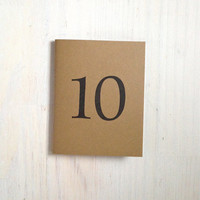 Medium Notebook: 10, 10 Year Anniversary, Anniversary Gift, Wedding Notebook, Number, Favor, Journal, Unlined, Unique, Natural, Notebook