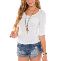 Pieces Of Me Top - White