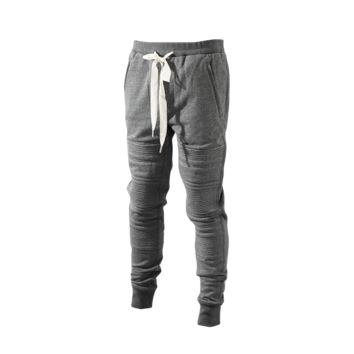3.1 Phillip Lim Slim Fit Lounge Pant With Stitching Panels (Grey) - Mens