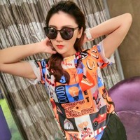 Womens Fendi Tshirt Ice silk cotton cheap fashion luxury brand Casual high quality v_xuzhenyu99