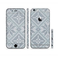 The Knitted Snowflake Fabric Pattern Sectioned Skin Series for the Apple iPhone6s Plus