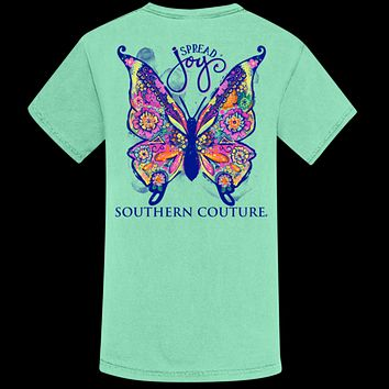 Southern Couture Spread Joy Butterfly Comfort Colors T-Shirt