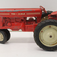 Vintage Tru-Scale Carter T-5 1/16 Tin Model Tractor Toy - Midcentury Collectible Toys