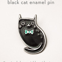 Black Cat Enamel Pin Black Cat Pin