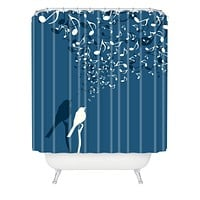Belle13 Love Song Shower Curtain