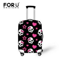 FORUDESIGNS Elastic Luggage Protective Covers for 18 20 22 24 26 28 30 Inch Trolley Suitcase Thick Stretch Travel Bag Rain Cover