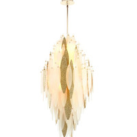 Vega Satin Gold Ten-Light Pendant Light