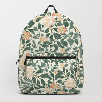 Leafy Blooms Backpack by Nina Ray