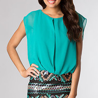 Short Casual Dress with Print Skirt by As U Wish