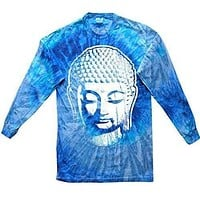 Mens Big Buddha Head Long Sleeve Tee Shirt