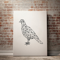 Pigeon Poster Large Wall Art Large Decor Modern Wall Decor Minimalist Poster Minimalist Print Abstract Print Abstract Wall Art Decor ,Evol