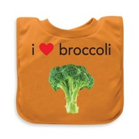 green sprouts® by i play.® Broccoli Favorite Food Absorbent Bib