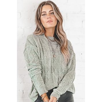 Live Your Life Pistachio Chenille Sweater