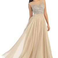 Prom Formal Long  Rhinestone Chiffon Dress Bridesmaid Wedding Ballgown Plus Size