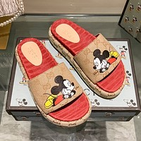 GUCCI New one character thick sole slippers-3