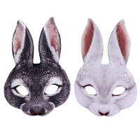 3D Bunny Rabbit Face Masks