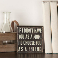 IF I DIDN'T HAVE YOU AS A MOM MINI PLAQUE