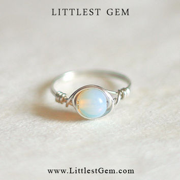 Opal ring - unique ring
