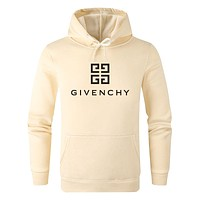 Givenchy Hot Sale Women Men Hoodie Cute Sweater Beige&Yellow