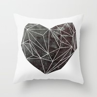 Heart Graphic 4 Throw Pillow by Mareike Böhmer Graphics