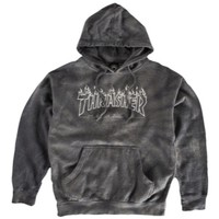 Thrasher Silver Flame Pullover Sweatshirt - Men's at CCS
