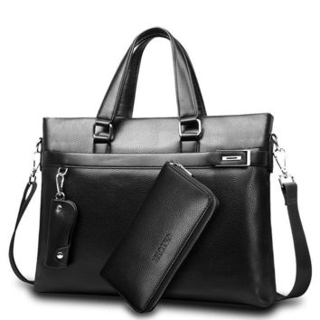 New Fashion Bag Men Briefcase PU Leather Men Bags Business Brand Male Briefcases Handbags