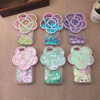 Sparkling sand flower phone case for iphone 5 5S SE 6 6s 6 plus 6s plus + Nice gift box 072301